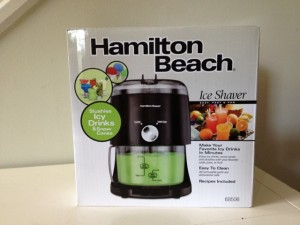 Hamilton Beach Ice Shaver