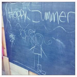 Happy Summer balckboard