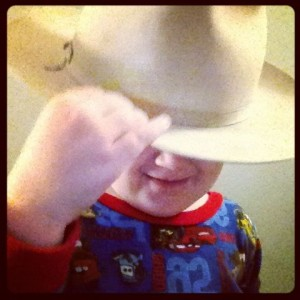 baby in a stetson