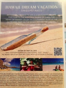 Pottery Barn Kids Hawaiian Vacation Sweepstakes