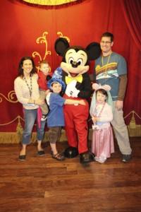Mickey and Family at the Magic Kingdom