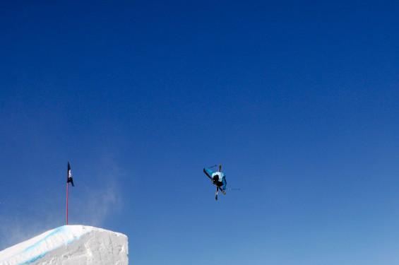 Slopestyle qualifications 2015 Visa U.S. Freeskiing Grand Prix at Park City Mountain Resort in Park City, UT Photo © Melanie Harding